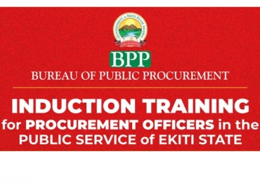 PRESS RELEASE: INDUCTION OF PROCUREMENT OFFICER IN PUBLIC SERVICE
