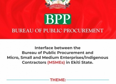 PRESS RELEASE: Improving Participation of MSMEs in Government Procurement in Ekiti State